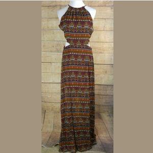 $69 NWT GIANNI BINI  Burgundy Printed Maxi Dress